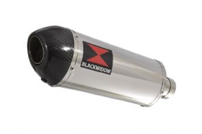 300mm Oval Stainless Carbon Tip Slip On Silencer